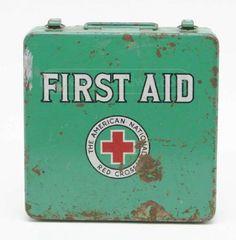 Vintage American Red Cross First Aid Metal Case Red Cross First Aid, Cross Love, Blood Drive, American Red Cross, Oldies But Goodies, Vintage Love, Getting Old, Nursing, Nostalgia