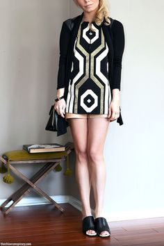 (Outfit Of The Yesterday) Black + Gold + Tan + The Emerson Fry A-Line Mod Top - t h e (c h l o e) c o n s p i r a c y : fashion + life + sty...