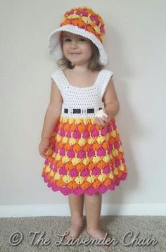 Craft Passions: Beautiful Dress and hat..# free #CROCHET pattern link here