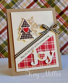 My Joyful Moments: Merry Monday #92 (Lil' Inkers Stitched Mat, WPlus9 sentiment, tree die, joy die)