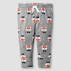Baby Fox Print Jogger Pants Cat and Jack - Gray Boy's, Size: 24 Months Gender: male. Toddler Pants, Toddler Stuff, Kid Stuff, Fox Kids, Mens Jogger Pants, Evolution T Shirt, Mr Style, Fox Print, Cute Baby Clothes
