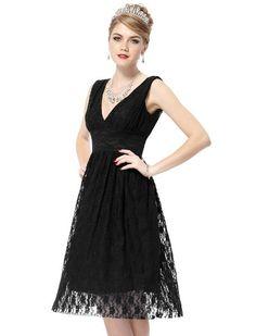 Ever Pretty Sexy Double V-neck Empire Line Lace NWT Bridesmaid Dress 03410:Amazon:Clothing
