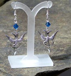 Katniss Everdeen inspired earrings.