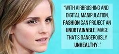 When Emma Watson talked about an unobtainable image and her excitement for the aging process. | 25 Times Emma Watson Killed It In 2014