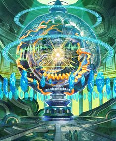 Anime Art Fantasy, Fantasy Rpg, Dark Fantasy Art, Fantasy Artwork, Fantasy World, Fantasy Beasts, Futuristic Art, Fantasy Weapons, Fantasy Landscape