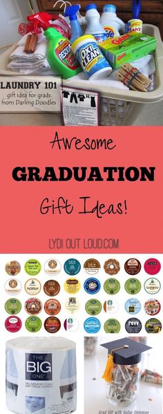 Tons of awesome graduation gift ideas for friends graduating from high school or college. These diy gift ideas are inexpensive and creative. The graduate will love these unique gifts no doubt! Unique Graduation Gifts, High School Graduation Gifts, College Gifts, Grad Gifts, Graduation Cards, School Gifts, Graduation Ideas, Graduation Gift Baskets, Graduation 2016