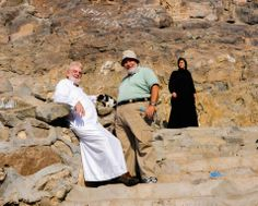 With my wonderful friends Safi and Eman Kaskas, ascending the Mountain of Light outside Mecca. At the top is the Cave of Hira where the Prophet Mohammad is said to have received the first revelations of the Qur'an from via the Archangel Gabriel.