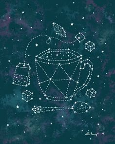 Tea Time Constellation - 8x10 Art Print