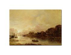 'River Landscape' by Aert van der Neer Canvas Art Print at HSN.com