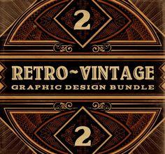 BUNDLE: 500+ Retro/Vintage Design Elements - MightyDeals