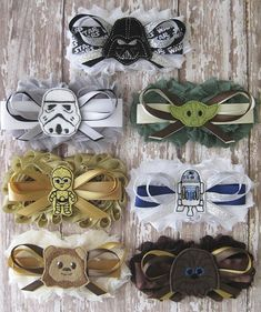 Bridal Party Star Wars Garter Set | Wedding Photo Prop, Bachelorette Party | New Characters Added