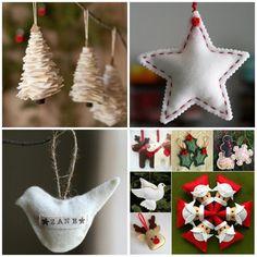 11 новогодних идей: ёлочные игрушки из фетра, ленточек, зёрнышек и других материалов - Ярмарка Мастеров - ручная работа, handmade