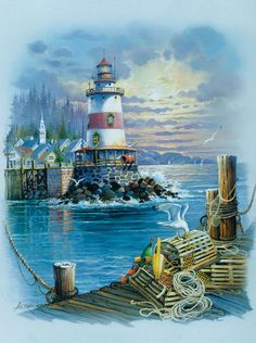 "On the Wharf - 1000 pieces. Finished size is 20"" x 27"". Art by: Andre Orpinas.Sunsout puzzles are 100% made in the USAEco-friendly soy-based inksRecycled boardsNot sold in mass-market stores"