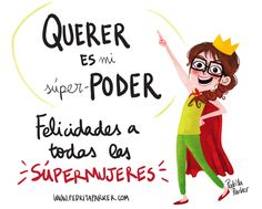 """Querer es mi SUPERPODER"" #ReinaPecas #Frases #ilustracion #pedritaparker #humor #diadelamujer"