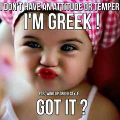 Greek and proud!