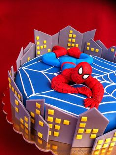 SPIDERMAN CAKE-by Red Carpet Cake Design®