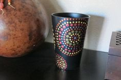Hand Painted Polka Dotted Dots Ceramic Vase Planter - Metallic (Gold, Copper, Silver, Bronze) by #ThePaintedCabeza