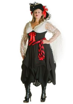 6b9289e143b94 Womens Plus Size Womens Pirate Costume (1X) (1X) by Fun Costumes Take