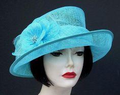Turquoise Church Hats | Main / DRESS & CHURCH HATS / IVORY, PASTEL, BRIGHT Dress Hats / Aqua ...
