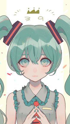 720x1280 wallpaper Hatsune miku, ponytails, artwork