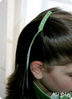 ribbon barrettes, we used to have these when I was little. It could be fun to do with my girls