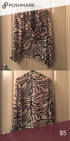 Zebra Blouse Clearing closest - all items available until September 15th. H&M Tops Blouses
