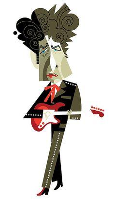 Pablo Lobato Artist | Bob Dylan by Pablo Lobato | Pop art