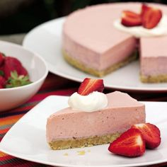 Strawberry yogurt mousse cake recipe - womanandhome.com - Woman And Home