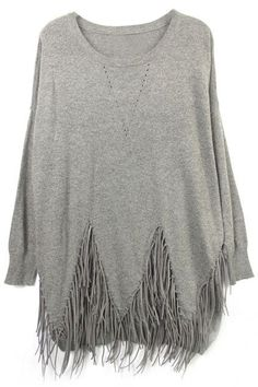 Drapey with fringe hem  detail.
