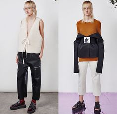 MM6 Maison Margiela 2016 Resort Cruise Pre-Spring Womens Lookbook Presentation - Denim Jeans Outerwear Coat Jacket Coatdress Thigh High Boots Zipper Cargo Pockets Flowers Florals Motif Swimwear Bikini Top Cropped Pants Sandals Ribbed Knit Sweater Jumper Leather Peel Away Scarf Goggles Plastic Vest Waistcoat Shearling Dress One Shoulder Frock Half Skirt Noodle Spaghetti Strap Quilted Puffer Accordion Pleats