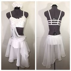"Soft and flowy white lyrical dance costume - ""I Surrender"""