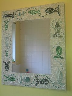 Sea glass mosaic mirror | Crafts - For the home