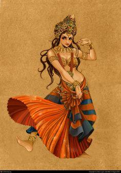 Indian dancer by chao xu guo | 2D | CGSociety