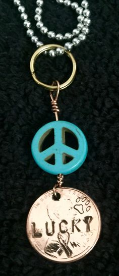 LuckyPenny Peace Necklace made at PainWorks of Colorado  Supporting The 2017 RSD/CRPS Pain Tour