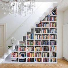 Stairway storage idea