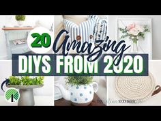 TOP 20 HIGH END INSPIRED DIYs *BEST EVER AND BUDGET FRIENDLY* - YouTube Crafts To Do, Diy Craft Projects, Craft Ideas, Decor Ideas, Dollar Tree Decor, Dollar Tree Crafts, Dollar Store Christmas, Christmas Diy, Christmas Decorations