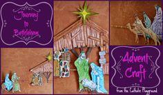 Journey to Bethlehem Advent craft – Catholic Playground Journey To Bethlehem, Advent Activities, Christmas Crafts, Christmas Ideas, Sunday School, Catholic, Diy And Crafts, Mary, Faith
