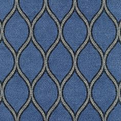 Bright blue home decor fabric with silver thread accent (also in peacock blue, plum, and taupe)