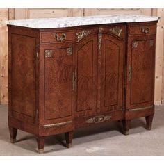 Antique Italian Empire Marble Top Buffet   Antique Furniture   #Antique #Furniture