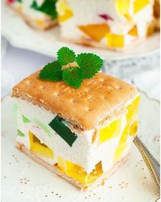 Deser z chia, owocami i galaretką - I Love Bake Dessert Recipes, Desserts, Tiramisu, Oreo, Panna Cotta, Nutella, Cheesecake, Food And Drink, Pudding