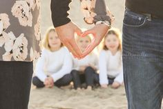 Blended family engagement photos session sneak peek. #familyphotography