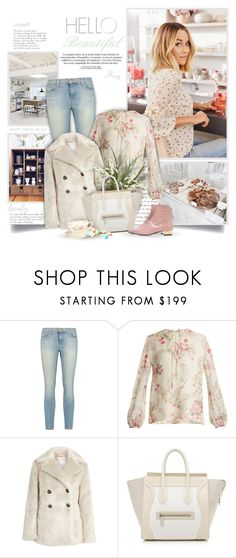 """""""Hello Beautiful"""" by thewondersoffashion ❤ liked on Polyvore featuring Prada, J Brand, Giambattista Valli, Lost Ink, CÉLINE and L'Autre Chose"""