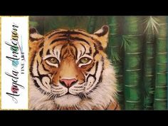Learn how to paint a TIGER Step by Step Realistic Acrylic Painting Tutor...