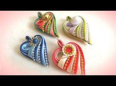 "Кулон ""сердечко"" своими руками из косой бейки, мастер класс - YouTube Ribbon Art, Silk Ribbon, Satin Ribbon Flowers, Ribbon Jewelry, Ribbon Bows, Ribbons, Kanzashi Tutorial, Ribbon Flower Tutorial, Ribbon Braids"