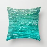Throw Pillows featuring SIMPLY SEA by Catspaws