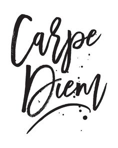 Motivational Quote Carpe Diem Printable Art by happythoughtshop