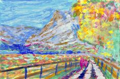 Painting in impressionist's style: copying from a picture