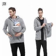 [ 35% OFF ] S-3Xl Baby Carrier Hoodies Winter Sweatshirts For Father Plus Size 3 In 1 Babywearing Jacket Multifunctional Kangaroo Outerwear