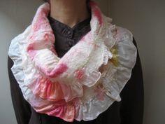 SALE Nuno Felted Infinity Loop Scarf Shawl Wrap Wool by feltinga, $29.90