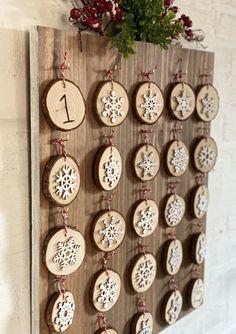 Countdown To Christmas Wood Advent Calendar